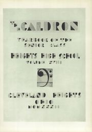 Page 9, 1932 Edition, Cleveland Heights High School - Caldron Yearbook (Cleveland Heights, OH) online yearbook collection