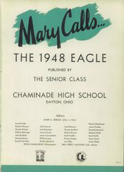 Page 4, 1948 Edition, Chaminade High School - Eagle Yearbook (Dayton, OH) online yearbook collection