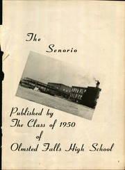 Page 3, 1950 Edition, Olmsted Falls High School - Senorio Yearbook (Olmsted Falls, OH) online yearbook collection