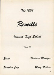 Page 7, 1954 Edition, Newark High School - Reveille Yearbook (Newark, OH) online yearbook collection