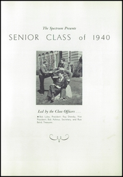 Page 9, 1940 Edition, Parma High School - Spectrum Yearbook (Parma, OH) online yearbook collection