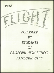 Page 5, 1958 Edition, Fairborn High School - Flight Yearbook (Fairborn, OH) online yearbook collection