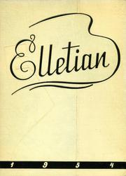 1954 Edition, Ellet High School - Elletian Yearbook (Akron, OH)