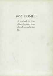 Page 7, 1937 Edition, Zanesville High School - Comus Yearbok (Zanesville, OH) online yearbook collection