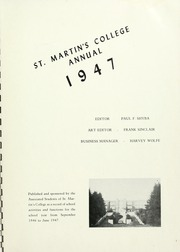 Page 5, 1947 Edition, Saint Martins University - Samarco Yearbook (Lacey, WA) online yearbook collection