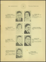 Page 16, 1935 Edition, Madison High School - Madisonian Yearbook (Mansfield, OH) online yearbook collection