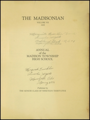 Page 3, 1935 Edition, Madison High School - Madisonian Yearbook (Mansfield, OH) online yearbook collection