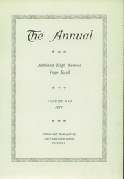 Page 5, 1922 Edition, Ashland High School - Guide Yearbook (Ashland, OH) online yearbook collection