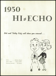 Page 5, 1950 Edition, Bowling Green High School - Hi Echo Yearbook (Bowling Green, OH) online yearbook collection