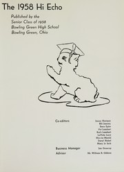 Page 5, 1958 Edition, Bowling Green High School - Hi Echo Yearbook (Bowling Green, OH) online yearbook collection