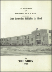 Page 5, 1951 Edition, Sycamore High School - Log Yearbook (Cincinnati, OH) online yearbook collection