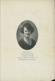 Page 5, 1925 Edition, Wadsworth High School - Whisperer Yearbook (Wadsworth, OH) online yearbook collection