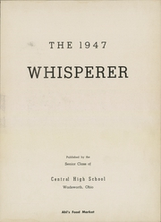 Page 7, 1947 Edition, Wadsworth High School - Whisperer Yearbook (Wadsworth, OH) online yearbook collection