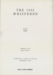 Page 7, 1948 Edition, Wadsworth High School - Whisperer Yearbook (Wadsworth, OH) online yearbook collection