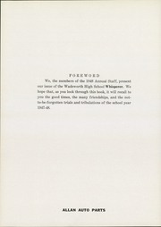 Page 8, 1948 Edition, Wadsworth High School - Whisperer Yearbook (Wadsworth, OH) online yearbook collection