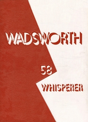 1958 Edition, Wadsworth High School - Whisperer Yearbook (Wadsworth, OH)