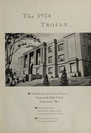 Page 5, 1934 Edition, Portsmouth High School - Trojan Yearbook (Portsmouth, OH) online yearbook collection