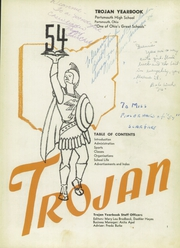 Page 5, 1954 Edition, Portsmouth High School - Trojan Yearbook (Portsmouth, OH) online yearbook collection