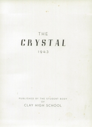 Page 5, 1943 Edition, Clay High School - Crystal Yearbook (Oregon, OH) online yearbook collection