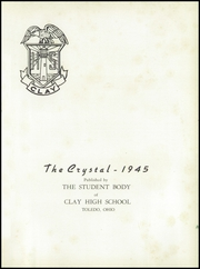 Page 5, 1945 Edition, Clay High School - Crystal Yearbook (Oregon, OH) online yearbook collection