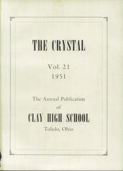 Page 5, 1951 Edition, Clay High School - Crystal Yearbook (Oregon, OH) online yearbook collection