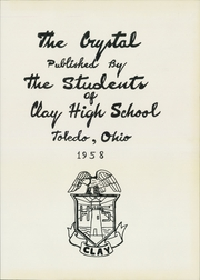 Page 5, 1958 Edition, Clay High School - Crystal Yearbook (Oregon, OH) online yearbook collection