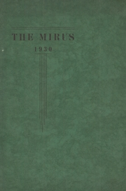Page 1, 1930 Edition, Miamisburg High School - Mirus Yearbook (Miamisburg, OH) online yearbook collection
