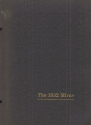 1932 Edition, Miamisburg High School - Mirus Yearbook (Miamisburg, OH)