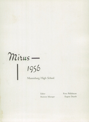 Page 5, 1956 Edition, Miamisburg High School - Mirus Yearbook (Miamisburg, OH) online yearbook collection