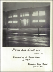 Page 5, 1959 Edition, Franklin High School - Purrs and Scratches Yearbook (Franklin, OH) online yearbook collection