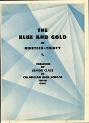 Page 11, 1930 Edition, Columbian High School - Blue and Gold Yearbook (Tiffin, OH) online yearbook collection