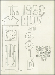 Page 5, 1958 Edition, Columbian High School - Blue and Gold Yearbook (Tiffin, OH) online yearbook collection