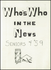 Page 9, 1959 Edition, Columbian High School - Blue and Gold Yearbook (Tiffin, OH) online yearbook collection