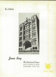 Page 9, 1952 Edition, East Technical High School - June Bug Yearbook (Cleveland, OH) online yearbook collection