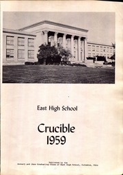 Page 7, 1959 Edition, East High School - Crucible Yearbook (Columbus, OH) online yearbook collection
