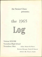 Page 5, 1965 Edition, Vermilion High School - Log Yearbook (Vermilion, OH) online yearbook collection