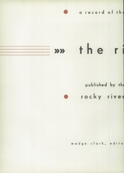 Page 6, 1937 Edition, Rocky River High School - Riverlet Yearbook (Rocky River, OH) online yearbook collection