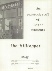 Page 5, 1957 Edition, Chardon High School - Hilltopper Yearbook (Chardon, OH) online yearbook collection