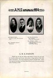 Page 15, 1924 Edition, Athens High School - Arena Yearbook (Athens, OH) online yearbook collection
