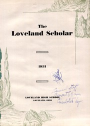 Page 5, 1931 Edition, Loveland High School - Scholar Yearbook (Loveland, OH) online yearbook collection