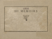 1916 Edition, Bellefontaine High School - Chant Yearbook (Bellefontaine, OH)