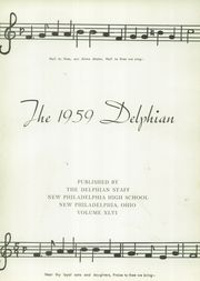 Page 5, 1959 Edition, New Philadelphia High School - Delphian Yearbook (New Philadelphia, OH) online yearbook collection