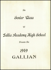 Page 5, 1949 Edition, Gallia County High School - Echo Yearbook (Gallipolis, OH) online yearbook collection