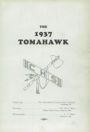 Page 5, 1937 Edition, Coshocton High School - Tomahawk Yearbook (Coshocton, OH) online yearbook collection