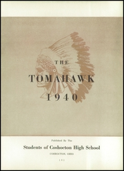 Page 7, 1940 Edition, Coshocton High School - Tomahawk Yearbook (Coshocton, OH) online yearbook collection