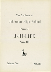 Page 5, 1951 Edition, Jefferson Area High School - J Hi Life Yearbook (Jefferson, OH) online yearbook collection