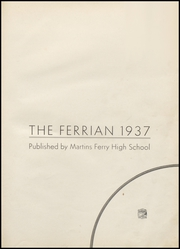 Page 5, 1937 Edition, Martins Ferry High School - Ferrian Yearbook (Martins Ferry, OH) online yearbook collection
