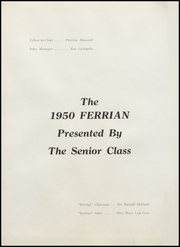 Page 6, 1950 Edition, Martins Ferry High School - Ferrian Yearbook (Martins Ferry, OH) online yearbook collection