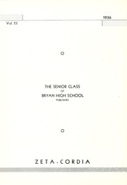 Page 8, 1936 Edition, Bryan High School - Zeta Cordia Yearbook (Bryan, OH) online yearbook collection