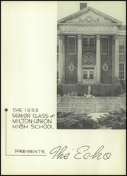 Page 5, 1953 Edition, Milton Union High School - Echo Yearbook (West Milton, OH) online yearbook collection